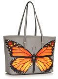 PU女性戦闘状況表示板のハンドバッグの方法デザイン蝶パターン印刷の前部
