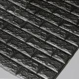 Ladrillo de pared tridimensional en 3D de la luz de pegatinas de espuma de teja de plástico