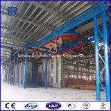 Máquina catenaria de cadena colgante continua del chorreo con granalla, tipo equipo de la percha de granallado