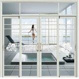 Двойной очистить стекло белого цвета из алюминия Kfc дверь для офисного здания