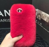 冬の熱い様式の普及したウサギの毛の携帯電話セット