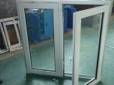Bonito diseño doble vidrio aislante de UPVC Casement Window