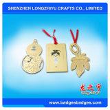 Bookmark mit Farbband-kundenspezifischen Metallbookmark-Papierklammer-Goldandenken
