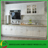 Gabinete de cozinha moderno barato da porta do PVC