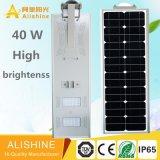 Venta caliente de calle del fabricante solar de la luz con 12 la luz solar de la batería LED del Po 4 de la elevación del litio de V 40 W LED