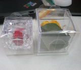 水晶花の蝋燭のプラスチック荷箱(折るボックス)