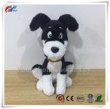 Hotsale mignon farci assis chien noir jouet en peluche pour la promotion