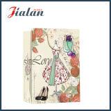 4c напечатано леди в платье с другой стороны упаковки магазины подарков бумажные мешки