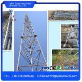 3-ног Guyed мачты башни сотовый телефон Телекоммуникационная башня