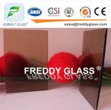 vidrio de ventana de cristal de bronce de los muebles del vidrio modelado de la lluvia de 3.5m m