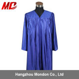 Bleu royal brillant adulte de robe de graduation de lycée