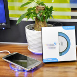 Пусковая площадка Qi беспроволочная поручая, беспроволочный заряжатель для Iphonex и Samsung