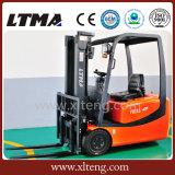 Chariot élévateur hydraulique manuel de Ltma 1.5t 3-Wheel avec la batterie