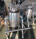 車輪が付いている移動可能なステンレス鋼の貯蔵タンク