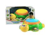 Bebé juguete musical b / o tortuga juguete tambor (h0001255)