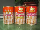 Canned Mushroom Asparagus in Chock Packing