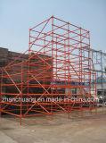Новая система Ringlock лесов конструкционные материал, стальная башня ремонтины, Perforated стальная планка, ворот, расчалки