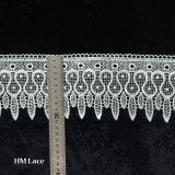 부채 모양으로 만든과 눈 패턴, 손질 레이스 Hml080를 가진 숙녀를 위한 Accessories 레이스 직물