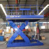 Levage hydraulique de ciseaux d'entrepôt lourd