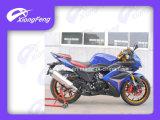 Motocicleta desportiva, moto de corrida 250cc, amortecedor de inversão, motocicleta off-road