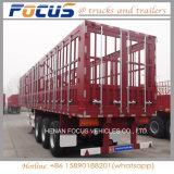 대량 화물 또는 동물 또는 곡물 수송을%s 담 또는 반 말뚝 트레일러