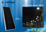 80W 바디 센서를 가진 옥외 통합 LED 태양 가로등