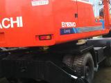 Japan-Make 0.6cbm/16ton utiliza 6cilindros Isuzu-Engine Hydraulic-Pump Hitachi EX160WD Excavadora de neumáticos