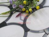 Mattonelle di mosaico del marmo di taglio del getto di acqua