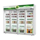 전시 진열장 강직한 유리제 문 음료 냉장고