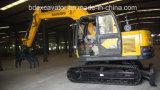 Máquina amarilla de los excavadores de la correa eslabonada de Baoding nueva pequeña con el certificado ISO9001