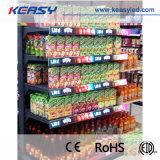 Étagère pleine couleur signer P1.875 COB affichage LED pour l'intérieur de la publicité de magasin