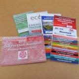 Flipcharts 서비스를 인쇄하는 용수철 표지 소책자 카탈로그