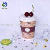 Cuvettes de papier estampées par logo bon marché de catégorie comestible de double de café remplaçable du mur 9oz