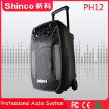 Shinco 12 дюймов Professional Wireless Bluetooth караоке тележка АС с светодиодный индикатор