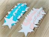 Suministro de fiesta Glitter estrellas cuelgan la decoración de papel
