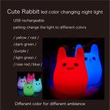 クリスマスのギフトのためのポータブル7カラーLED赤ん坊夜ライト