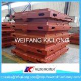 Produit malléable élevé de cadre de moulage de sable de fer de fonte grise de cadres de sable de production