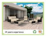 Sede profonda della mobilia del rattan del sofà vivente esterno del giardino