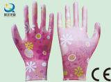 Сад земледелия 13 датчиков цветастые и перчатки работы безопасности женщин (PU006)