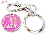 판매를 위한 주문을 받아서 만들어진 분홍색 색깔 아연 합금 Keychain