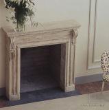 Camino di marmo di Travertin nel disegno francese T-7216 di stile