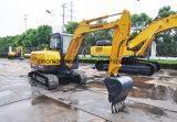 Venta caliente Sinomach 0,22 m3 de Maquinaria de construcción de equipos de ingeniería 6 Ton mini excavadora sobre orugas hidráulica