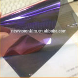 Púrpura del claro de la decoración del coche al tinte azul de la película del camaleón