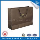 金ロゴのカスタムハンドメイドのクラフト紙のショッピング・バッグ