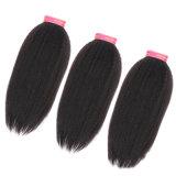 Trama humana de seda do cabelo reto de Yaki da extensão do cabelo humano do estilo da forma