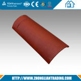 Azulejos rojos semicilíndricos de la terracota de los azulejos de azotea