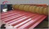 Colorir chapa de aço ondulada revestida