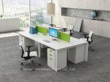 Estação de trabalho linear moderna do escritório com divisor da tela na parte superior de tabela (HF-YZB014)
