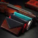 특징 백색 바느질 지갑은 PU 가죽 전화 상자를 만든다