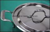 5 ply combinés corps Âme en cuivre Waterless Jeu de batterie de cuisine Ustensiles de cuisine Ustensiles de cuisine